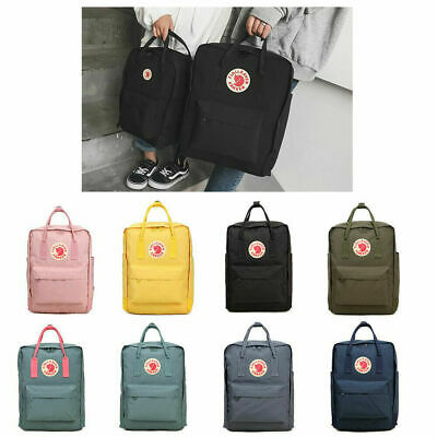 20L/16L/7L Fjallraven Kanken Canvas Backpack Sport Arrival Handbag Mini/Classic^
