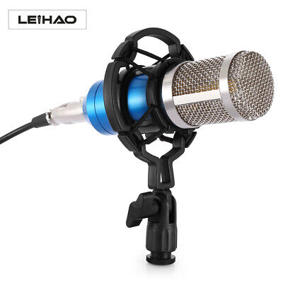 BM-800 Studio Condenser Microphone Mic Kit with Shock Mount Stand For Recording