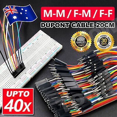 Up 120x Dupont Cable 20cm Jumper Wire for Arduino RPi breadboard M-F, M-M, F-F