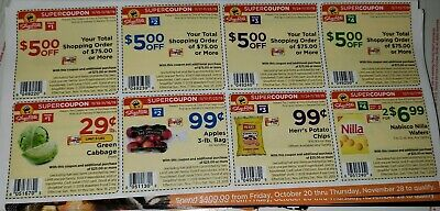 (2) 4 weeks of shoprite super sheets Nov 10 & Nov 17 , Nov 24 & Dec 1