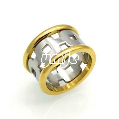 Unisex Silver&Gold Hollow Stainless Steel Finger Ring Plated Knuckles Ring Band