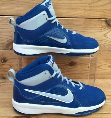 Nike Boys Girls Classic High Top Trainers Blue and White UK 4