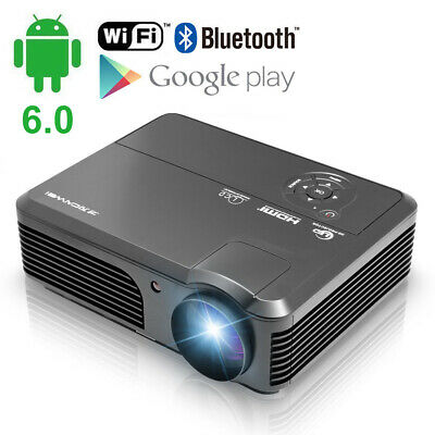 Android WIFI HD Home Cinema Projector Bluetooth 1080P Movies Night HDMI Backyard