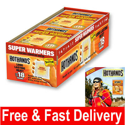 Hand and Body Warmer Super HotHands Warmers 8 Count Pack Hot 18 Hours Heat