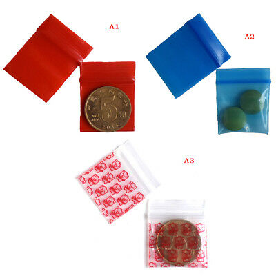100 Bags clear 8ml small poly bagrecloseable bags plastic baggi F_5NV