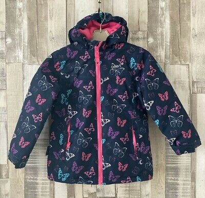 Gelert Girls Blue Butterfly Print Waterproof Fleece Lined Jacket Age 5-6 Years