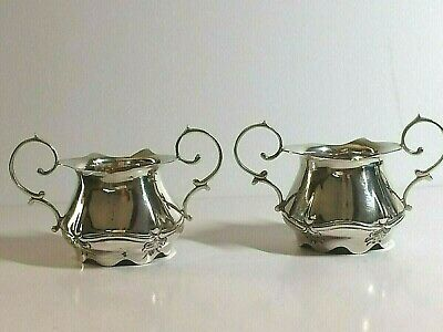 Pair Of Antique Art Nouveau Sterling Silver Twin Handle Bowls, Birm 1905, 67,Gms