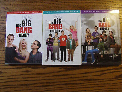Big Bang Theory The Complete First, Second & Third season 1, 2, 3 Lot