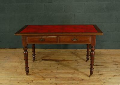 Antique 19th Century Victorian Mahogany and Oak Writing Table Desk