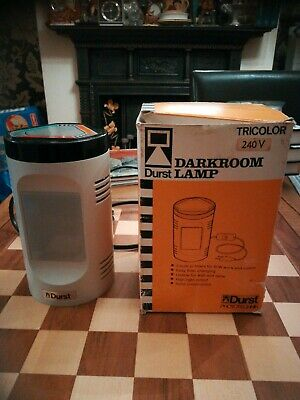 Darkroom Durst Wall & Table Solid Construction Lamp Tricolor + Original Box