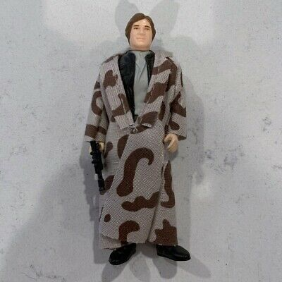 1983 Vintage Kenner Star Wars Han Solo Endor Trench Coat ROTJ Complete Mint