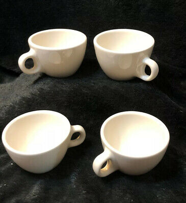 Homer Laughlin Best China Coffee Cups White Restaurant Ware Style Set Of 4 Cups