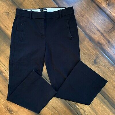 J Crew Teddie Crop Dress Pants Trousers Black Women's Size 2