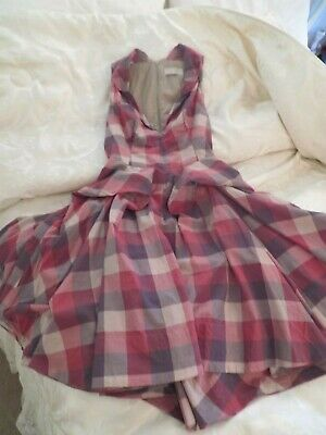 Stunning All Saints Hector Dress Red / Grey Size 6 Excellent Condition