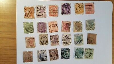 A selection of Queen Victoria Empire + Commonwealth stamps.