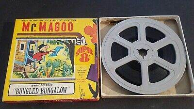 TESTED GOOD 1960's Mr. MAGOO BUNGLED BUNGALOW Super 8 Columbia Pictures 8mm Film