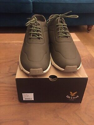 Mens Lyle & Scott Khaki Trainers Brand New UK10