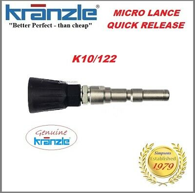 Kranzle Genuine Q/R K10 Stub / Micro Lance with QUICK RELEASE COUPLING 12390-042