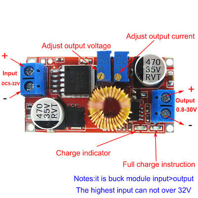 5A DC-DC Constant Current Voltage Regulator Step Down Converter (5V 12V 24V)