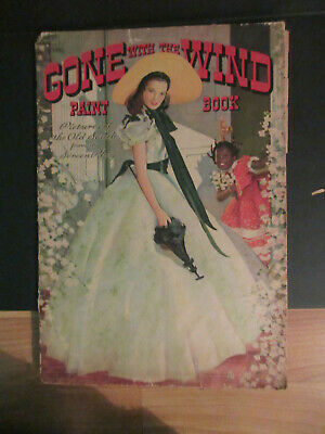 """Gone WIth the Wind paint book, 26"""", 1940"""