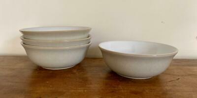 "Denby Langley 6.5"" Linen Cereal Salad Soup Bowls England 5 Available Nice!"