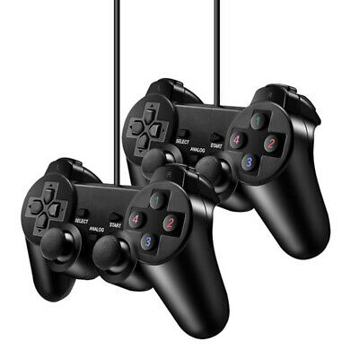 Computer Wired PS2 Game Controller USB Dual Shock Joystick For PC Computer
