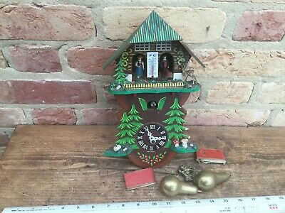 Vintage Wooden Cuckoo Clock in need of repair  made in Germany