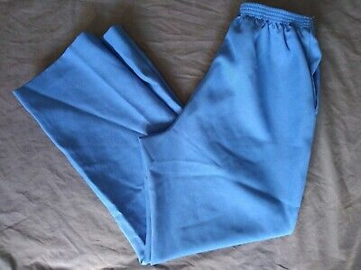 Alfred Dunner stretch knit pants blue size 12 petite elastic waist