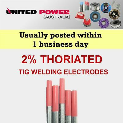 3pc 1.6mm X 150mm  2% Thoriated Tungsten TIG Electrode   *TOP QUALITY*