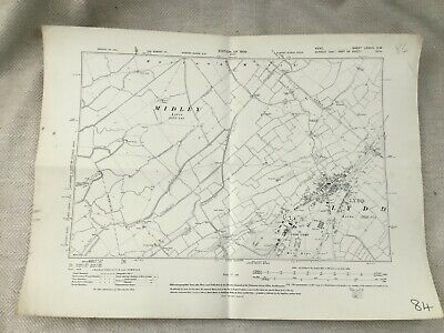 1909 Antique Map of Kent East Sussex Lydd Camp Midley West Ripe Old