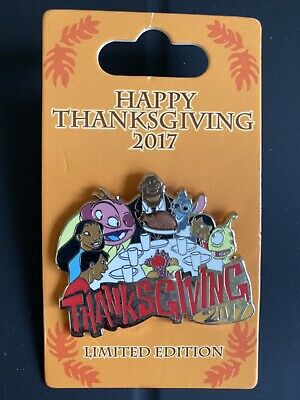 Disney Parks LILO and Stitch/ Happy Thanksgiving 2017 Pin LE