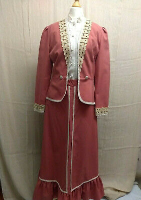 Coral Victorian Day Suit Titanic Downton Abbey