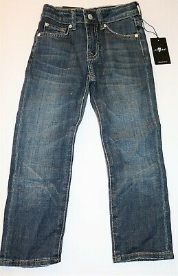 7 For All Mankind Brand Boys Blue Standard Straight Leg Jeans Size 4 BNWT #BOY2