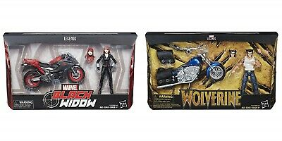 Marvel Legends Series 6-inch Wolverine or Black Widow with their Motorcycle