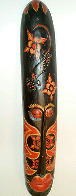Tribal African Native Wooden Mask Hand Carved and Painted