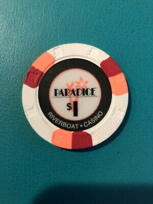 Par-a-dice Riverboat Casino Chip East Peoria Illinios Issued 1999 Series 1
