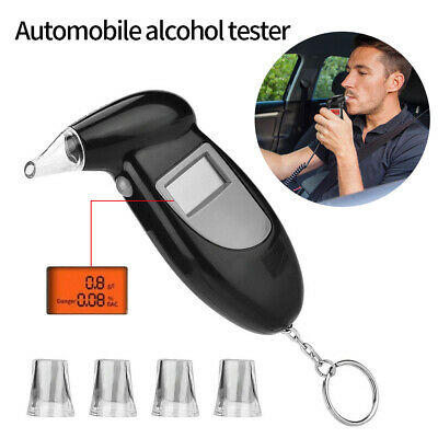 Portable Digital LCD Breathalyzer Breath Test Alcohol Tester Analyzer Detector