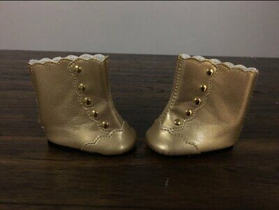 American Girl Marie Grace /& Cecile Fancy Gold Boots NIB NRFB Accessories