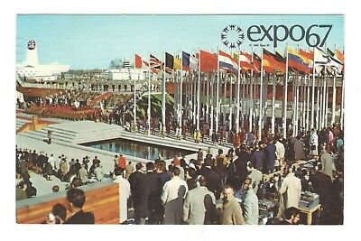Opening Day Ceremonies Expo 67 Montreal Canada Vintage Postcard AF25