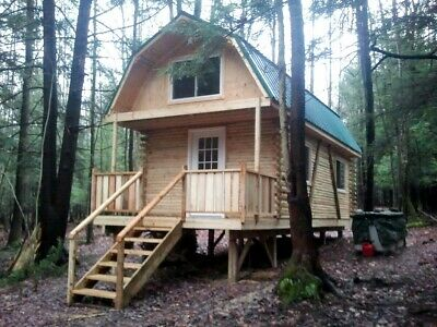 15 Acre NY Land 704 SF. Log Cabin Lot #8 FINANCING NO RESERVE PA Woods HUNT FISH