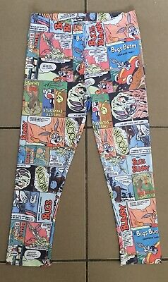Bnwot Warner Bros Looney Tunes Comic Strip Bugs Bunny Leggings Size 8
