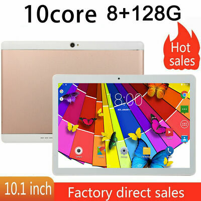 10.1'' Tableta Android Ten core 8+128GB WiFi 3G 13MP Cámara HD Tablet PC 2 SIM p