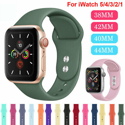 Sports Silicone Band for Apple Watch Series 5 4 3 2 1 iWatch 38/42/40/44mm Strap