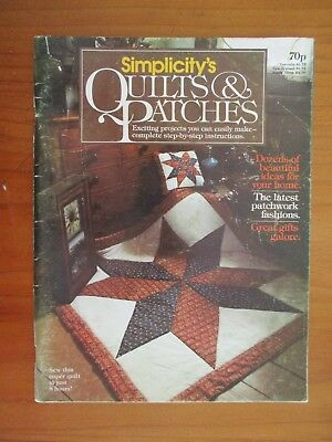 Vintage Simplicity's Quilts & Patches Magazine 1979 Star Quilt Pattern
