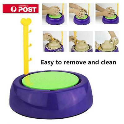 Electric Pottery Wheel Ceramic Machine Kids DIY Ceramic Art Tool Clay Making Toy
