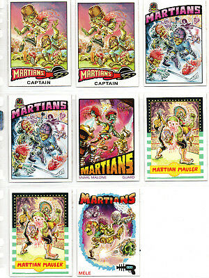 Mars Attacks! Occupation - Lot Of 8 Martian Superstar Chase Cards NM Topps
