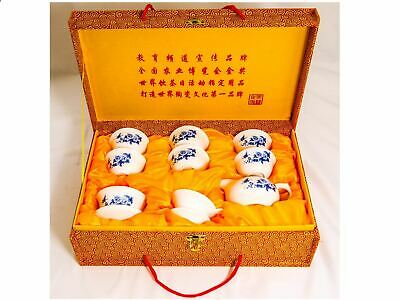 Chinese Porcelain Tea Set Oriental with 6 Cups Teapot Infuser Giawan