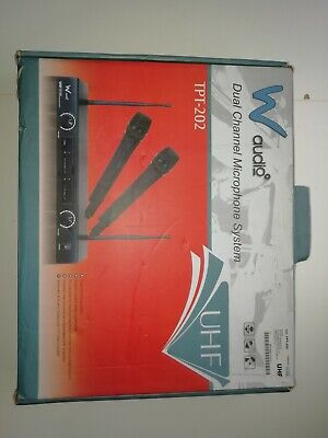 W Audio TPT-202 Twin Handheld UHF Radio Microphone System
