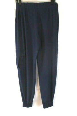 Lisa Rinna Collection Jogger Pants Blue Sz XS Pull On Stretch Womens CB61W