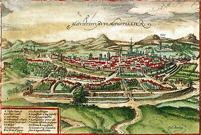 Reproduction plan ancien - Montpellier vers 1575